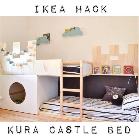 Ikea Bunk Bed Hack Fargekombo Kinderzimmer Pinterest Ikea Hack Kura Bed And Rooms
