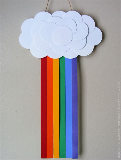 snap scrap tweet craft idea paper rainbow for