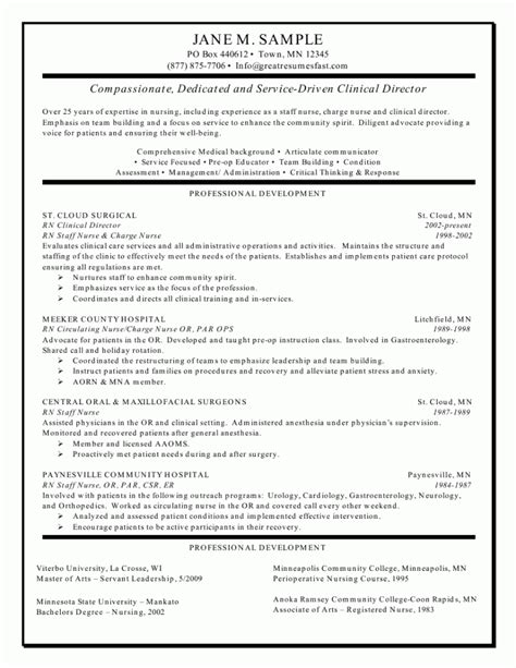 Resumes For Nurses by Resume For Nurses Sle