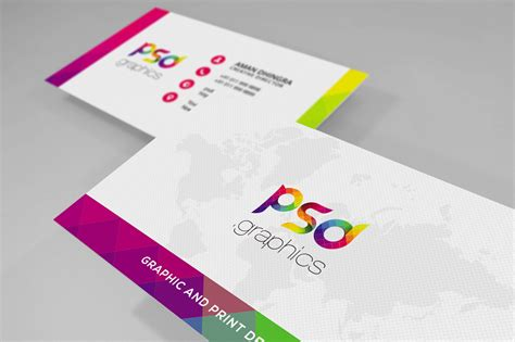 colorful business card templates free colorful business card free psd graphics psd graphics