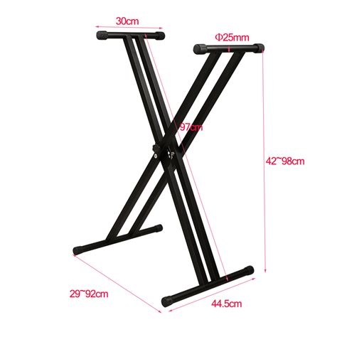 Stand Biola Foldable Fit All Size High Quality heavy duty x frame keyboard stand with straps folding adjustable ebay