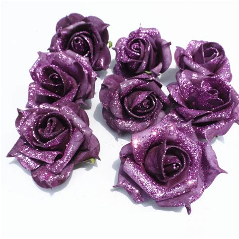 Home Decor Items Cheap online buy wholesale artificial glitter flowers from china