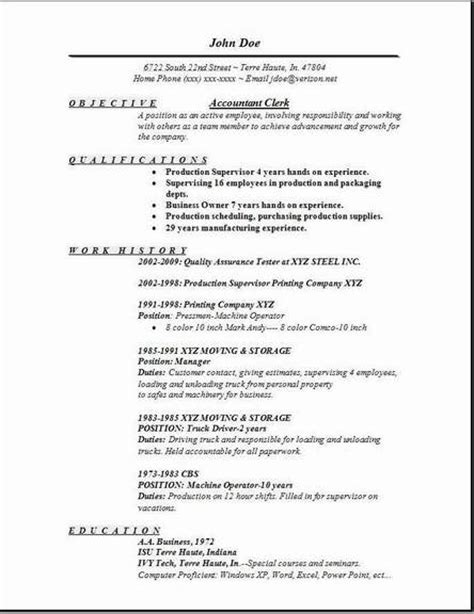Resume Objective Exles For Accounting Clerk Accountant Clerk Resume Exles Sles Free Edit With Word