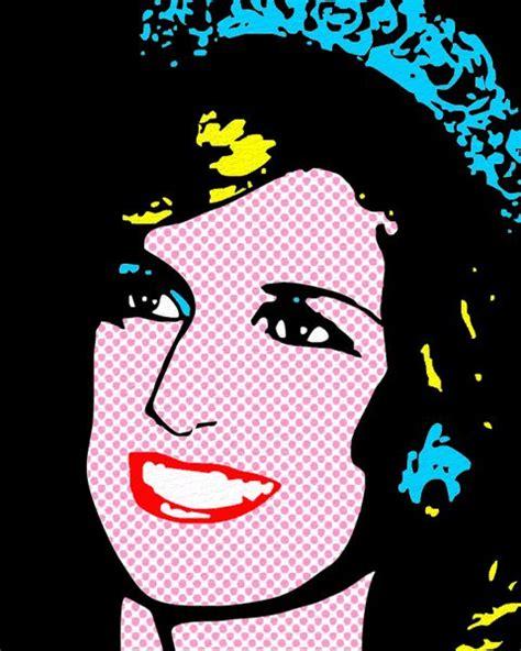 pop art portrait princess diana