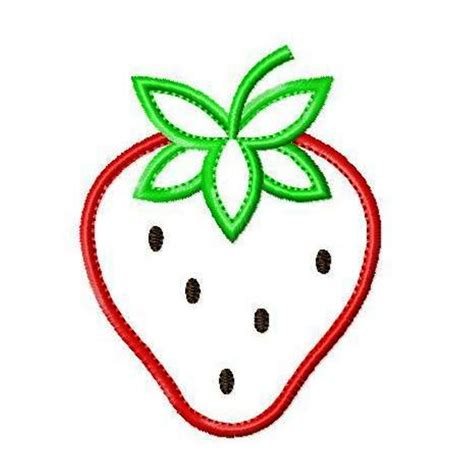 embroidery applique strawberry applique machine embroidery design in 4 sizes