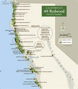 humboldt redwoods state park map california map travel