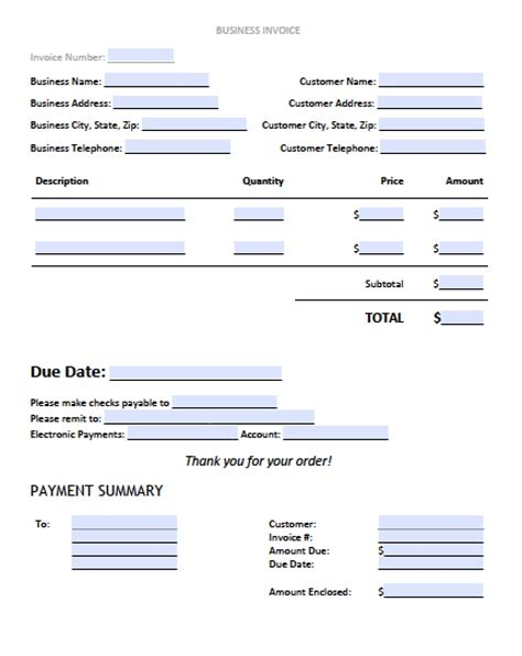 business invoice template free business invoice template excel pdf word doc