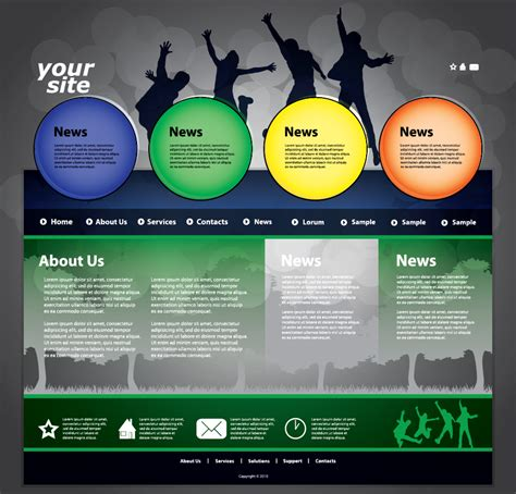 the trend of dynamic website templates 03 vector free