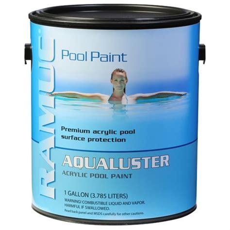 ramuc aqualuster acrylic pool coating gallon white