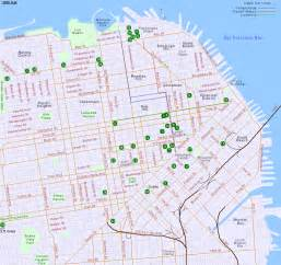 San Francisco Hotels Map map of hotels in san francisco california