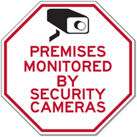 premises monitored by security cameras signs 12x12