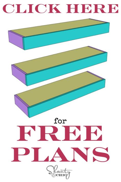 Free Floating Shelf Plans by Diy Floating Shelves