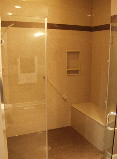 how to build a shower bench walk in shower with build in bench