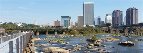 richmond va rva skyline from t potterfield bridge