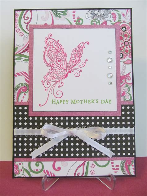 Mothers Day Handmade Cards - savvy handmade cards s day butterfly card