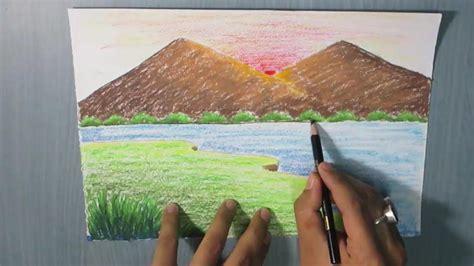 draw  mountain landscape  kids easy