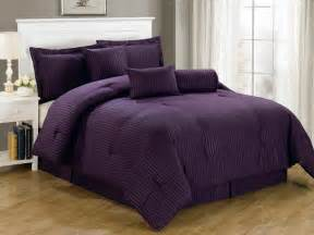 luxurious 7 piece comforter set king size bedding purple