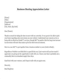 Sle Complaint Letter To Business Partner Appreciation Letter Sle For Business Partner 28 Images Formal Thank You Letter Business