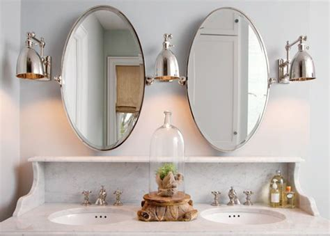 mind blowing satin nickel wall sconces enchanting bathroom best 25 oval bathroom mirror ideas on pinterest half