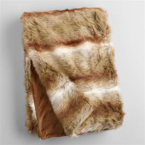 Faux Fur Home Decor brown faux fur throw world market