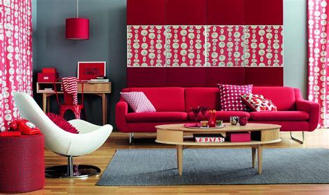 red home decor ideas red living room ideas to decorate modern living room sets