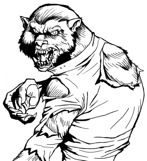 halloween wolf coloring pages werewolf coloring page coloring home