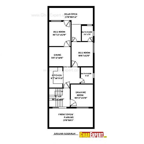 house design 15 feet by 60 feet 20 x 60 house plan india