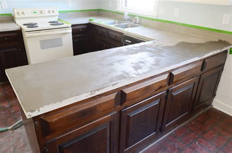 hand  diy ardex concrete counters young house love
