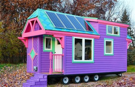 Victorian Tiny House by Colorful Victorian Tiny House Small Space Living