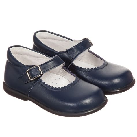 leather shoes children s classics navy blue leather shoes