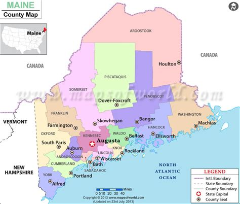 maine county map buy maine county map