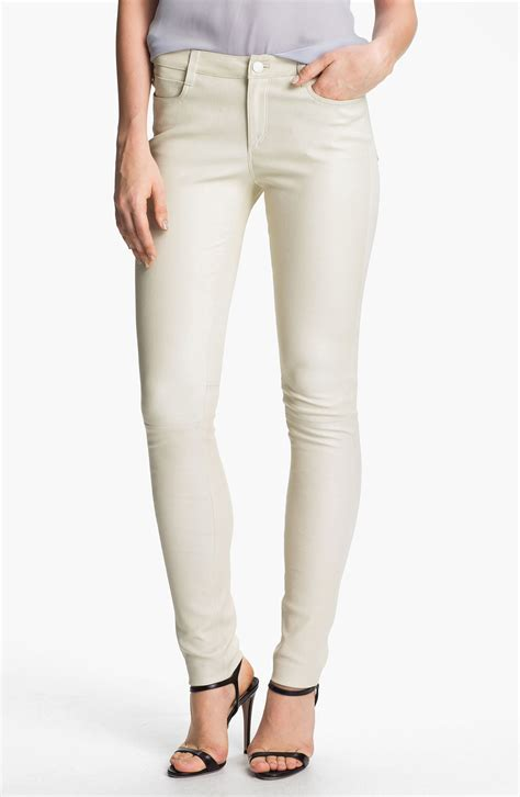 off white leather vince leather pants in white end of color list off white