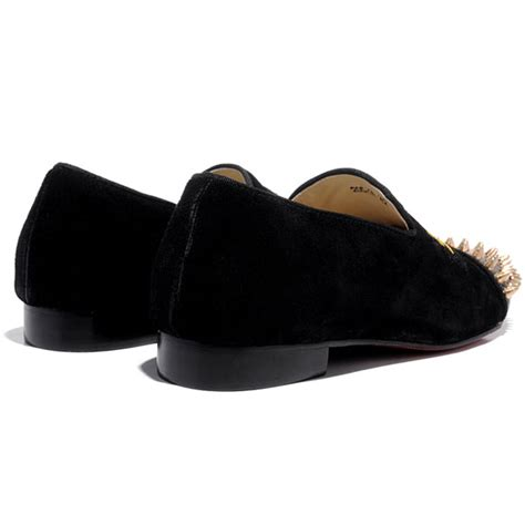 suede loafers for cheap cheap christian louboutin harvanana gold spikes suede mens