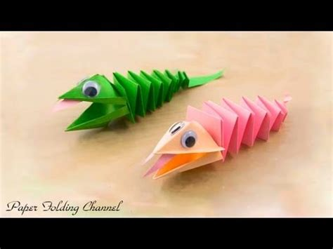 Origami Gecko - origami lizard