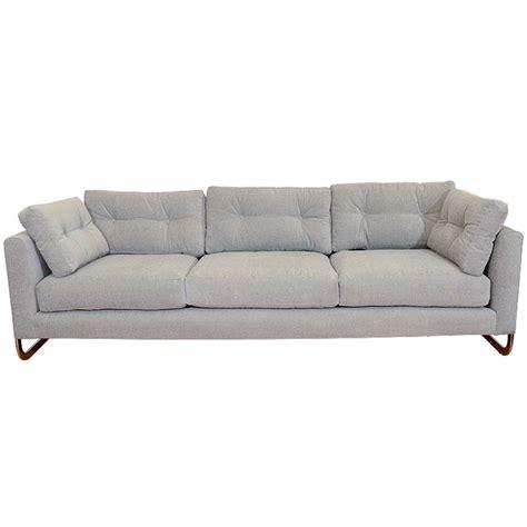 baughman sofa mid century chrome cantilevered sofa by milo baughman at