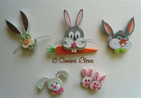 papercraft quilling quilled bugs bunny etc by