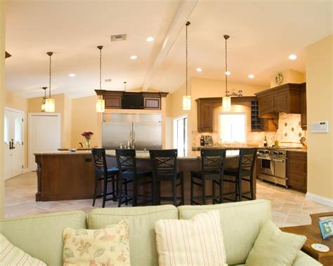 awesome kitchen lovely lighting vaulted ceiling engaging