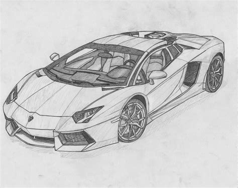 Lamborghini Aventador Zeichnung by 25 Best Ideas About Car Drawings On Pinterest Car