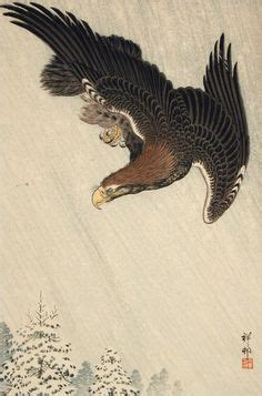 tattoo japanese eagle hanga gallery torii gallery eagle on a bough by