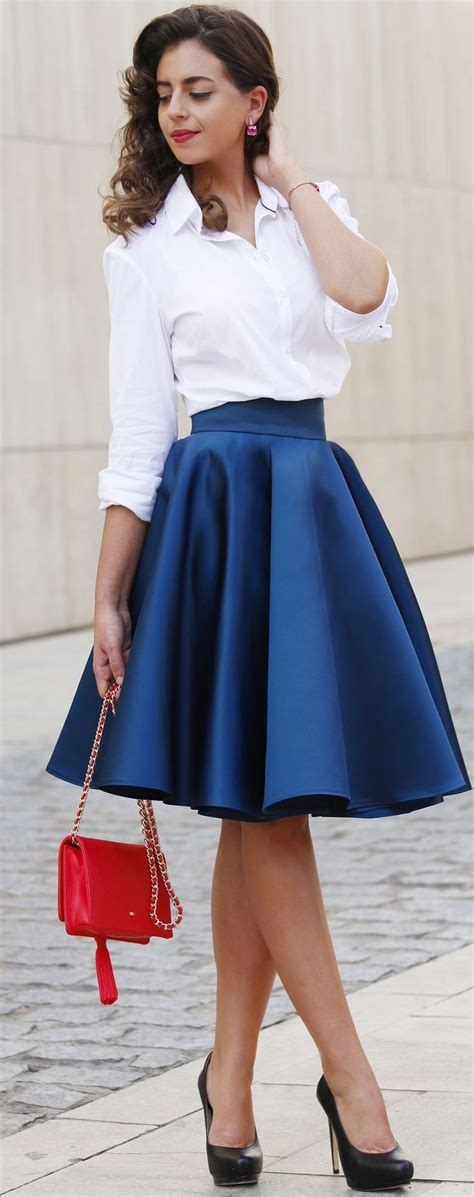 17 best ideas about blue skirt on blue