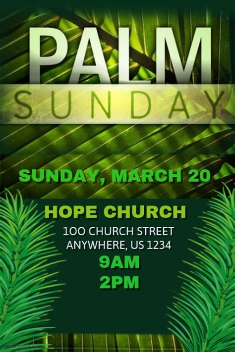 palm sunday template palm sunday template postermywall