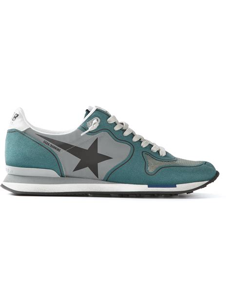 golden goose deluxe brand running sneakers in green lyst