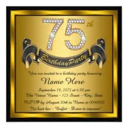 gold 75th birthday
