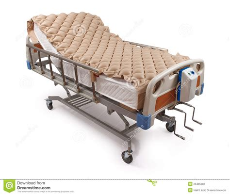 hospital bed air mattress hospital bed with air mattress clipping path stock