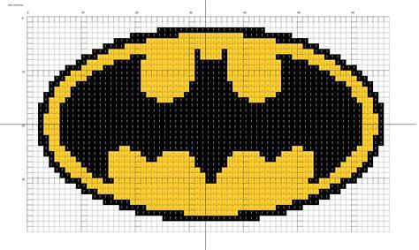 Batman Logo Pony Stitching | batman logo pony stitching