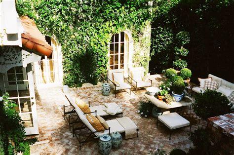 brick works wonders on a stylish hollywood hills patio