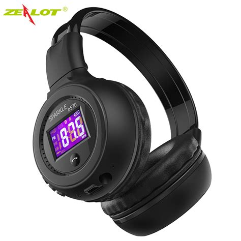 Headphone Bluetooth Microsd Fm Radio Headset Earphone zealot b570 foldable stereo hifi bluetooth headphone wireless headset with lcd screen micro sd