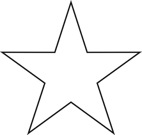 printable star template star templates to print clipart best