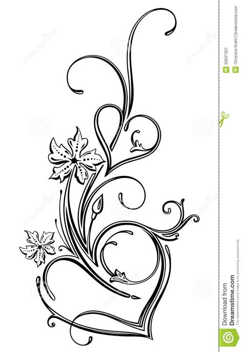 filigree tattoo design pencil and filigree design