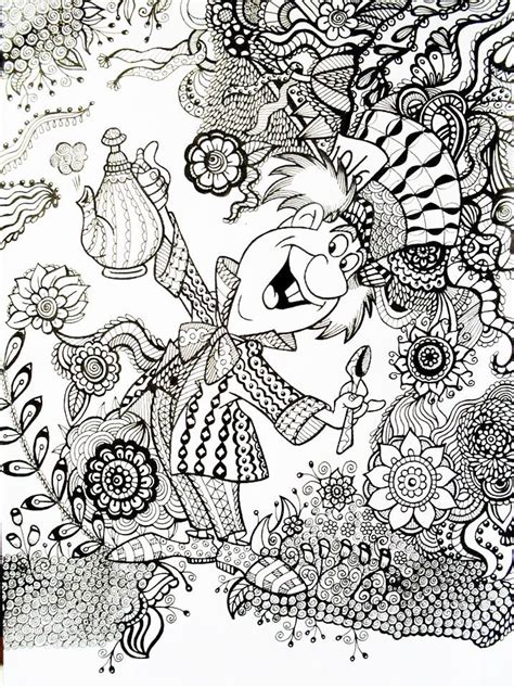 printable disney coloring pages for adults mad hatter alice in wonderland an exle of how a regular